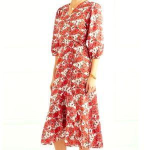 ⭐️NEW⭐️Rixo London Floral Wrap Midi Dress